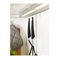 Illuminazione sottopensile a LED UTRUSTA color alluminio ...