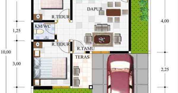 Denah Rumah Minimalis Type 21 60