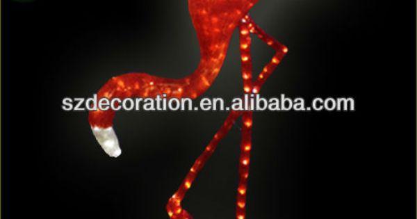 2013 décoration christnaséclairé led. flamant rose-Eclairage de ...