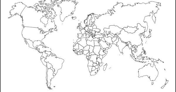 صور خريطة العالم صماء اجمل الصور لخريطة العالم الصماء World Map Outline World Map Sketch Map
