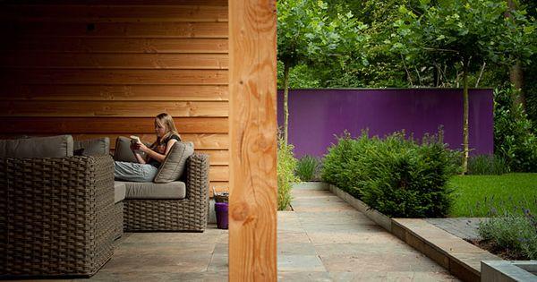 Tuinontwerp tuinaanleg tuinonderhoud eigentijdse bostuin in nunspeet - Eigentijdse tuinfoto ...