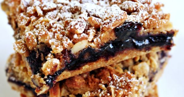 Blueberries, Milk and Oat Crumble Bar | Brownies & Bars | Pinterest ...