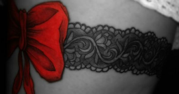I love this garter tattoo but instead of a bow i 39 m gonna for Revival tattoo and piercing