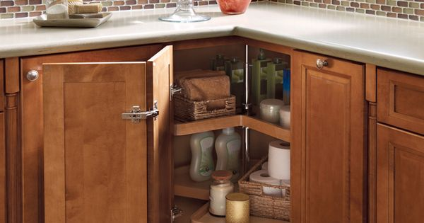 Storage solutions details vanity wood lazy susan kraftmaid beautiful master bathrooms - Kraftmaid bathroom cabinets catalog ...