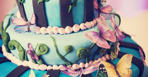 blue butterfly flower cake my fav