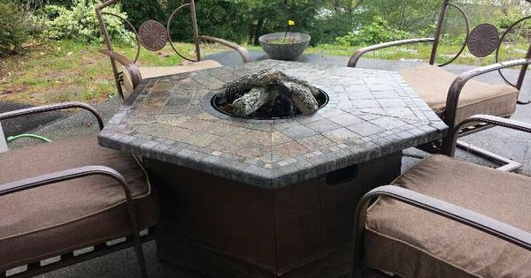 High End Patio Furniture With Fire Pit Outdoor Furniture Sets Fire Pit Patio Furniture