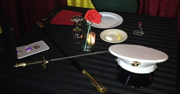 Pow Mia Table Marine Corps Ball Pinterest