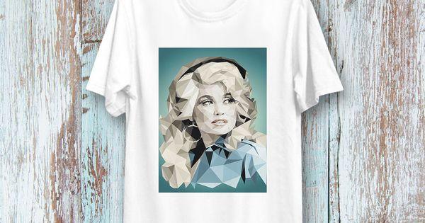 Dolly Parton Country Pop Blues Music Singer Portrait rétro Vintage T Shirt 49