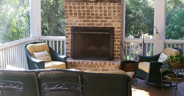 Porch With Fireplace Net Weaver 39 S Place Allison Ramsey