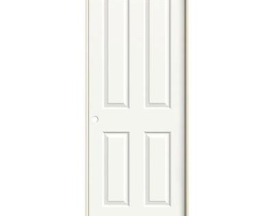 Jeld Wen 32 In X 80 In Molded Smooth 4 Panel Brilliant White Hollow Core Composite Single