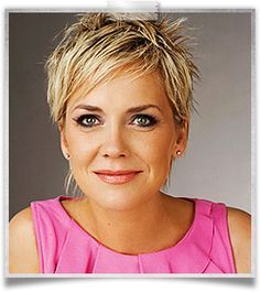 Inka Bause Hair With Images Very Short Hair Cute