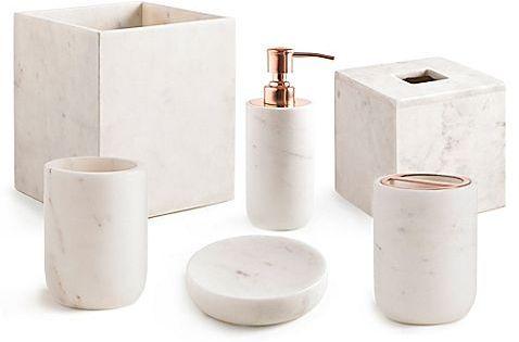 Light Airy And Elegant The Kassatex Pietra Bath Ensemble Is A Beautiful Addition Gold Bathroom Accessories Bathroom Decor Luxury Bathroom Accessories Luxury