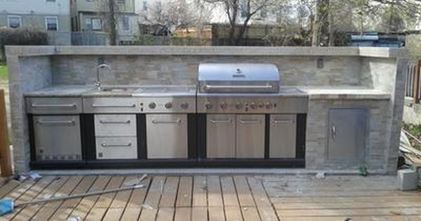 Shop Master Forge 6 Burner Modular Gas Grill At Outdoor Kitchen Please Pinterest