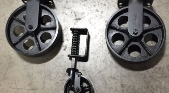 Jeu De Roulettes Table Basse Chariot Industriel Tables