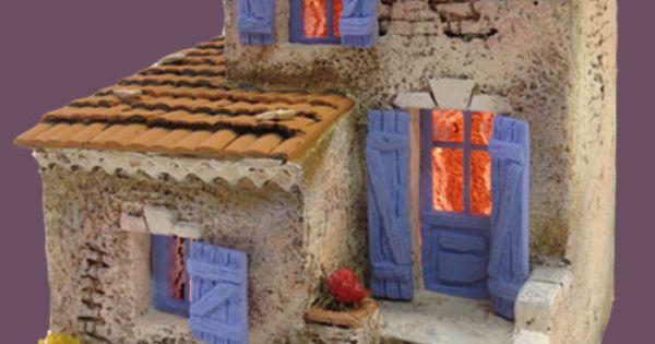 santons atelier de fanny santons et cr ches de no l santons de provence maison de village n 5. Black Bedroom Furniture Sets. Home Design Ideas