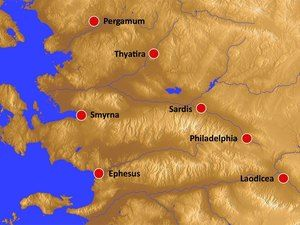 Free Maps Seven Churches Of Revelation Maps Showing The Locations