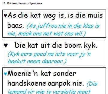 Image Result For Afrikaanse Idiome Pdf Image