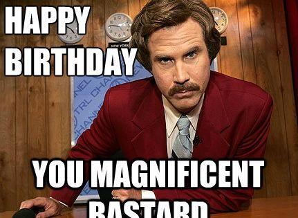 Funny Ron Burgundy Meme : Birthday memes funny happy anchorman