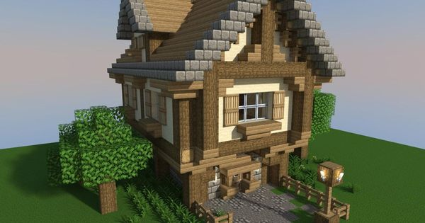 Minecraft minecraft pinterest survie house ideas et for Maison classique minecraft