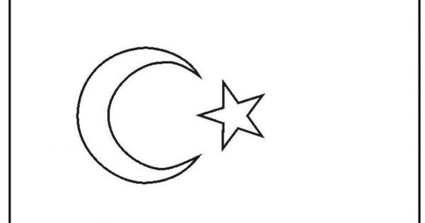 turkey flag coloring page-Turkey | Flag coloring pages ...