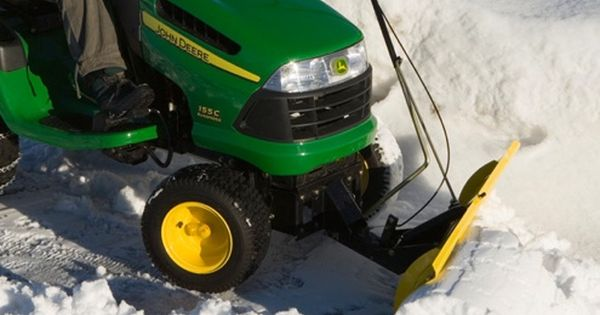Turn Your Lawn Tractor Into A Snow Plow Or Blower Lawn Mower Snow Plow Tractor Snow Plow Lawn Tractor