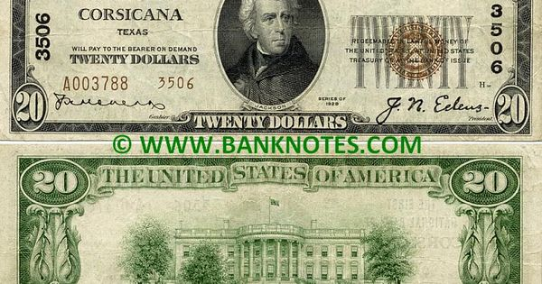 Andrews (TX) United States  city images : United States of America Texas 20 Dollars 1929 National Currency ...