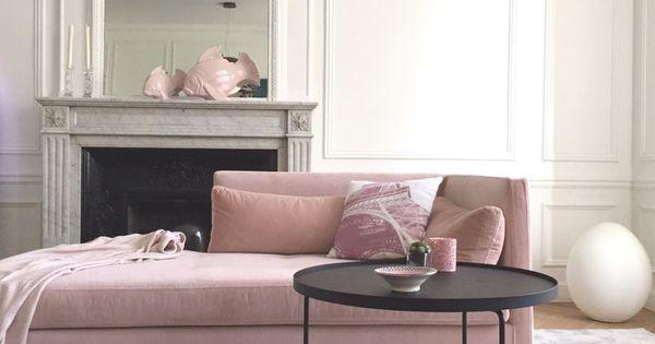 D Coration Salon Gris Et Rose Quartz Dans Un Appartement Haussmannien Paris Tapis Gris Et
