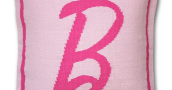 "Barbie ""b"" pillow: Jonathan Adler ...adore pink"