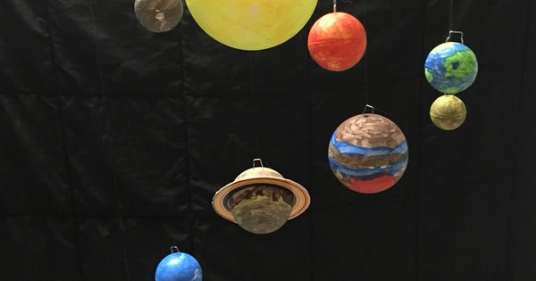 Solar system hanging model. Started with Hobby Lobby $8.99 ...