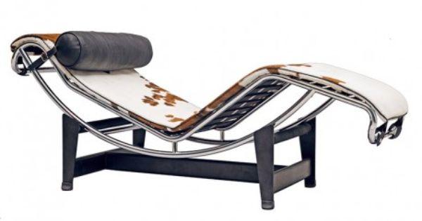 chaise longue le corbusier lc4 en peau de vache | switzerland flat ... - Chaise Longue Le Corbusier Vache