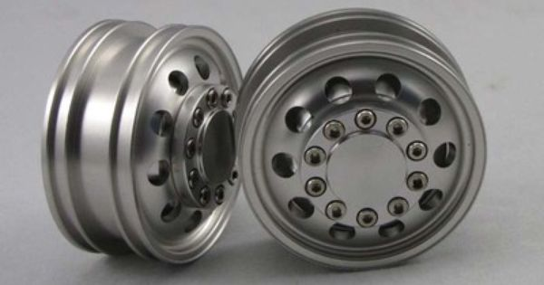 Aluminum Tractor Wheels : Pair of aluminum front wheels rims for tamiya tractor