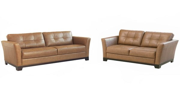 Macy's Martino Leather Living Room Furniture, 2 Piece Set