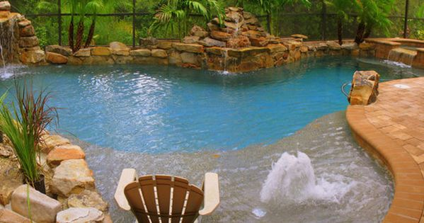 Landscaping Literally The Perfect Pool With Shallow