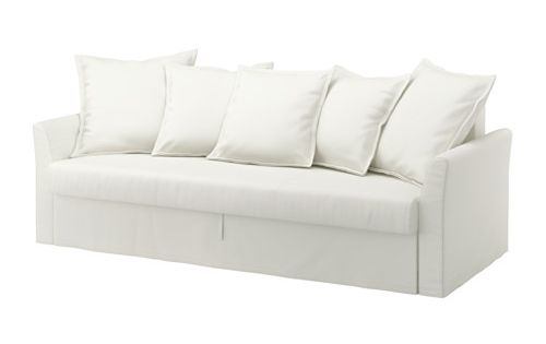 Ikea holmsund sofa bed ransta white easily converts for Sofa bed 140 x 200