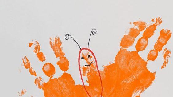 Letter B Butterfly Handprint Art For Kids