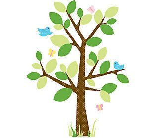 Roommates Dotted Tree Peel Stick Wall Decals Qvc Com Tree Wall Decal Tree Wall Stickers Wall Stickers Kids