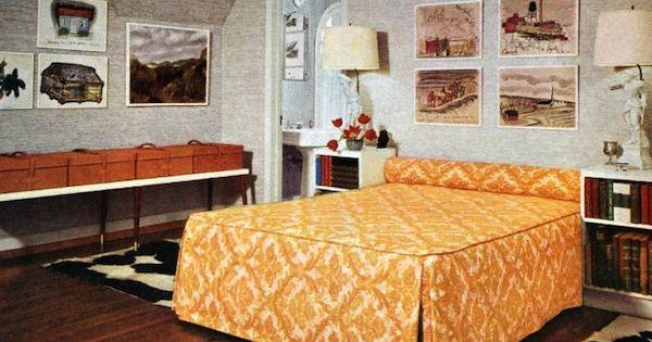 Retro Midcentury Modern Vintage Interior Design 60s