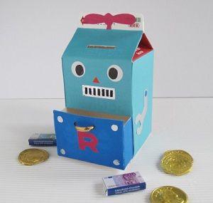 簡単 箱 作り方 牛乳パック 貯金