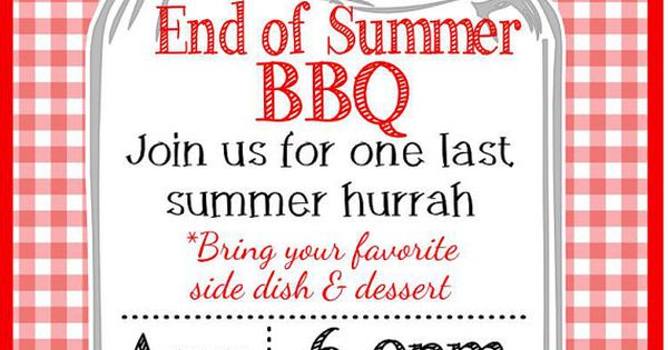 Backyard End of Summer BBQ Party Invitation by ...