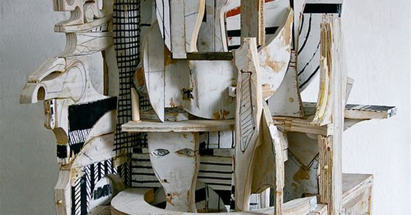 MAKE ABSTRACT WOOD SCULPTURE Mikhail Gubin's visionary collage sculptures