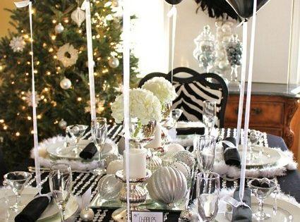 Ideas para decorar la mesa en a o nuevo nochevieja - Ideas para cena de nochevieja ...