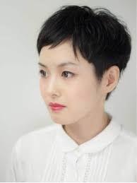 ベリーショート 女 面長 の画像検索結果 アジア人 ショートヘア