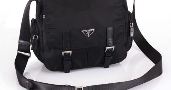 prada black messenger bag