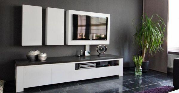 Leuke stijl vanwege losse elementen woonkamer tv meubel pinterest tv ikea en woonkamer tv - Scheiding meubels ...