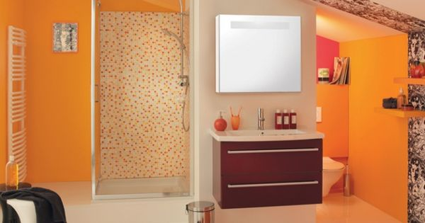 salle de bains orange brossette salle de bain pinterest salles de bains oranges salle de. Black Bedroom Furniture Sets. Home Design Ideas