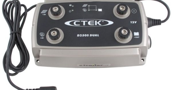 Ctek D250s Dual Universal 12 Volt Battery Charger Multiple 12 Volt Dc Power Sources Ctek Power Inc Battery Chargers Ctekd250s Best Battery Charger Charger