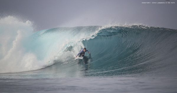 Steve Yamamoto Prays Himself Into The Dream Line At The Hole Mentawai Photo Richard Kotch Surf Beach Kneeboarding Surfing