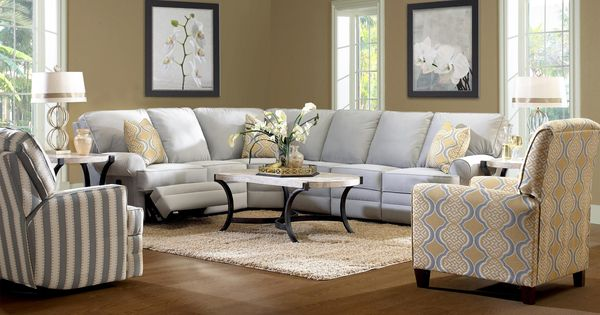 Klaussner Belleview Classic Reclining Sectional Sofa With