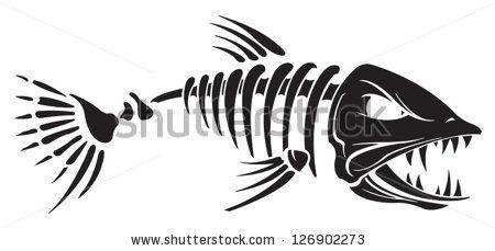 Fish Skeleton Clipart Free Clipart Fish Bone Tattoo Fish Skeleton Fish Silhouette