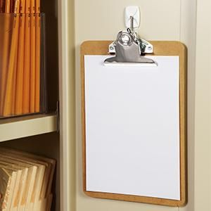 Use A Command Small Wire Hook To Hang A Clipboard Easy To Mount